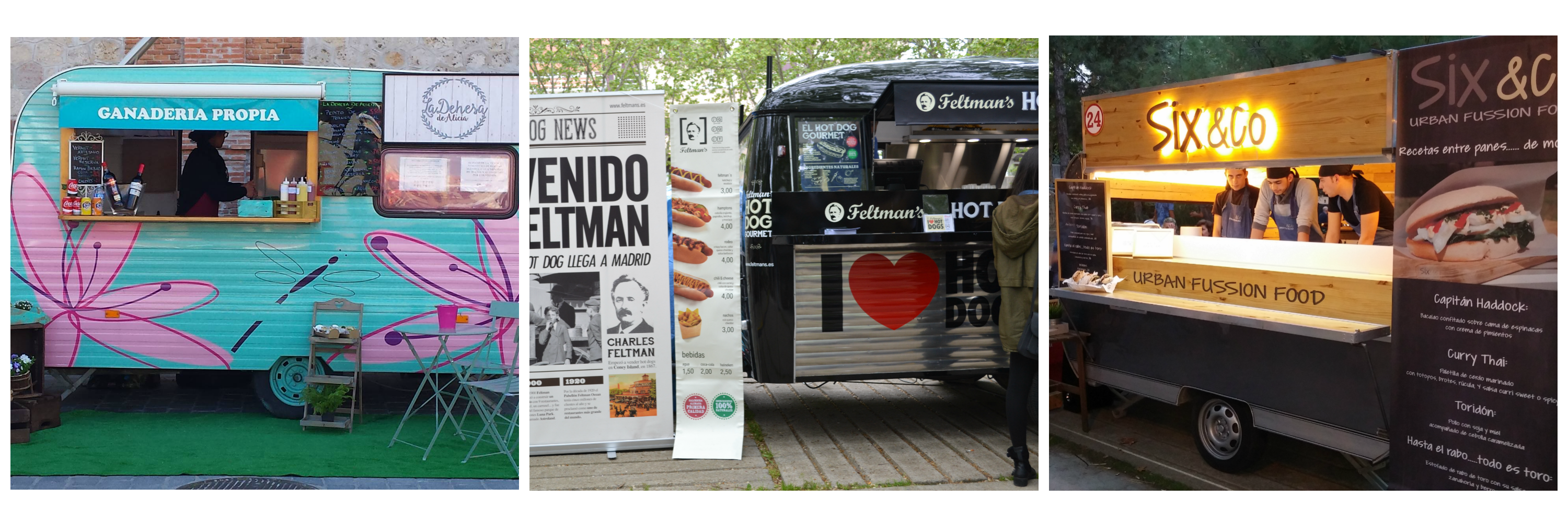 Trucks Food La Dehesa de Alicia, Feltman´s y Six & Co.